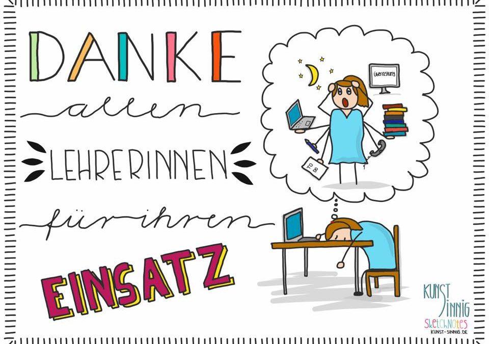 Danke an alle Lehrerinnen und Lehrer